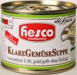 1/4 Klare Gemüse-Suppe 212 ml 1:10 konzentriert ohne Einlage, ergibt 2 Ltr. Suppenbasis