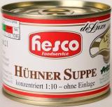 1/4 Hühnersuppe, 212 ml, 1:10 konzentriert ohne Einlage, ergibt 2 Ltr. Suppenbasis