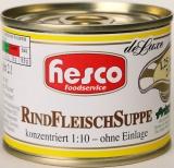 1/4 RindFleischSuppe 212 ml, 1:10 konz.ohne Einlage, ergibt 2 Ltr. Suppenbasis