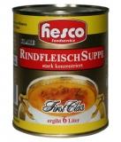 Klare Rindfleischsuppe mit Fleisch 1:6, 850 ml (ergibt 6 Ltr.)
